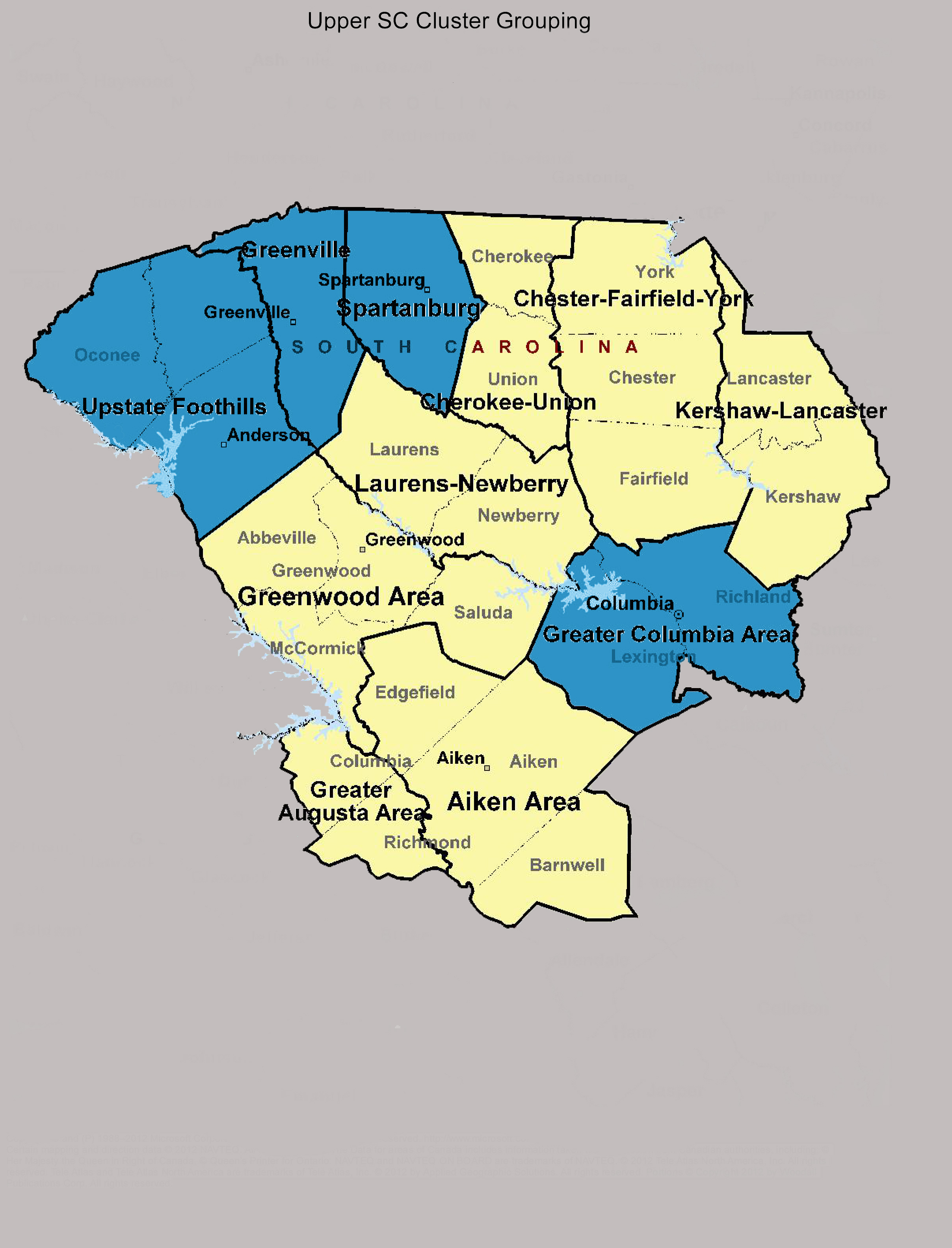 Upper South Carolina Cluster Grouping  Regional Bah Council of