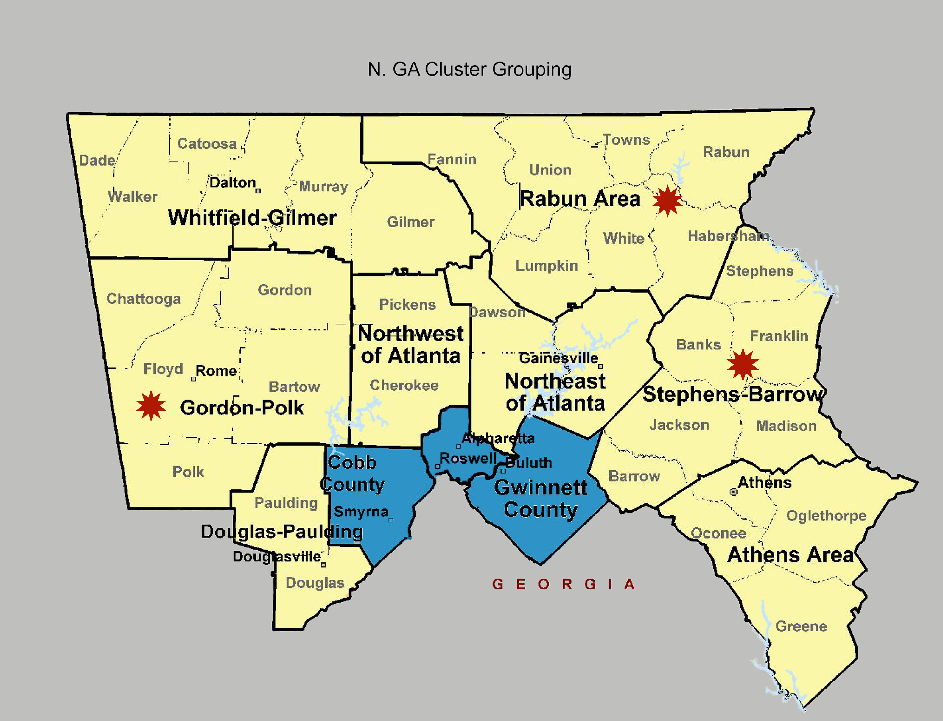 Critical Goal Clusters - Georgia Grouping | Regional Bahá'í ... on harris county, gilmer county, brasstown bald, cleveland map, historic south, warner robins, douglas county, franklin county, stephens county, armstrong atlantic map, new mexico map, southern rivers, arkansas map, south carolina map, union map, madison county, gwinnett county, putnam county, cumberland plateau map, acworth map, houston map, rio grande map, jefferson county, inland empire, dekalb county, delaware map, atlanta metropolitan area, missouri map, blue ridge mountains,